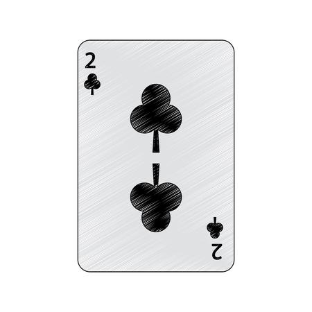 클럽 포커 카드 카지노 아이콘 벡터 일러스트 레이 션의 두