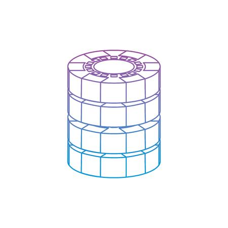 チップ カジノ関連オンブル ラインを青にアイコン画像ベクトル イラスト デザイン紫  イラスト・ベクター素材