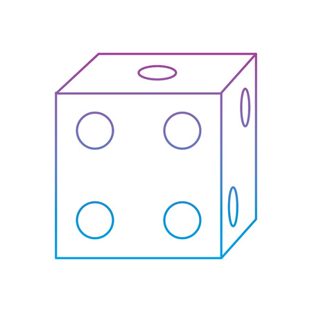 die game icon image vector illustration design  purple to blue ombre line