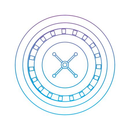 ルーレットのカジノ関連オンブル ラインを青にアイコン画像ベクトル イラスト デザイン紫