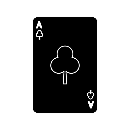 poker casino ace club card playing icon vector illustration Ilustracja