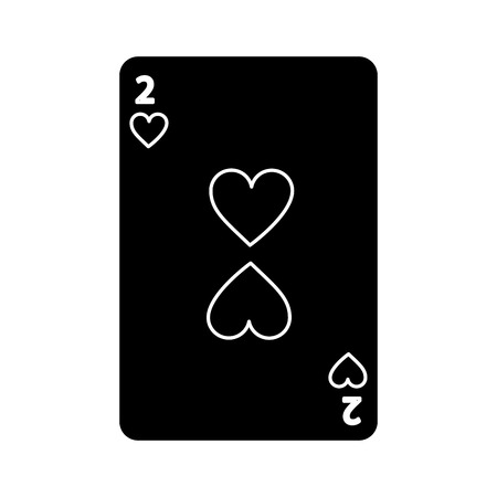 two of club poker card casino icon vector illustration
