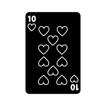 poker playing heart card casino gambling icon vector illustration