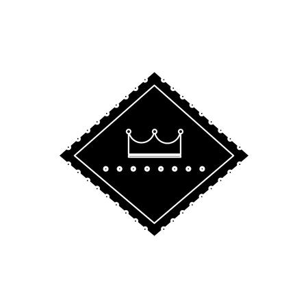 カジノ レトロ看板サイン クラウン デザイン ベクトル図  イラスト・ベクター素材