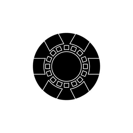casino chip symbol fortunes risk gamble vector illustration