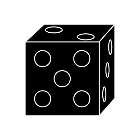 gambling casino dice leisure entertainment vector illustration