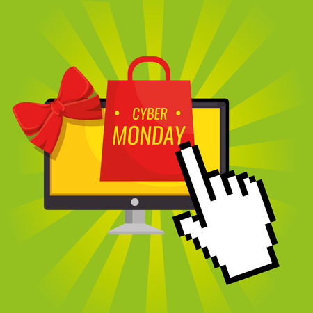 cyber monday sale banner background vector illustration graphic design