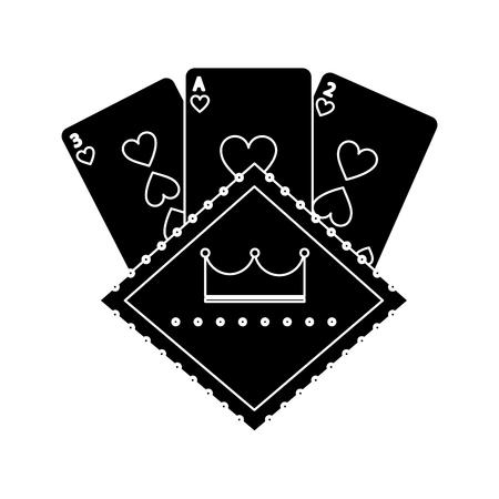 casino poker board light cards gamble symbol vector illustration