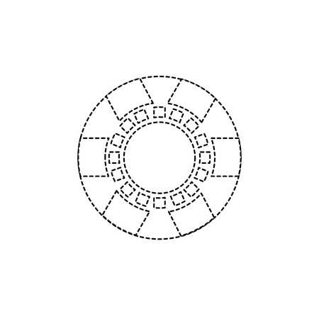 ブルーチップのカジノ関連のアイコン画像ベクトル イラスト デザイン  イラスト・ベクター素材