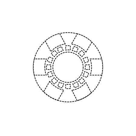chip casino relacionados ícones imagem vetorial ilustração design