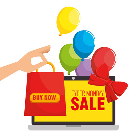 cyber monday sale banner background vector illustration graphic design