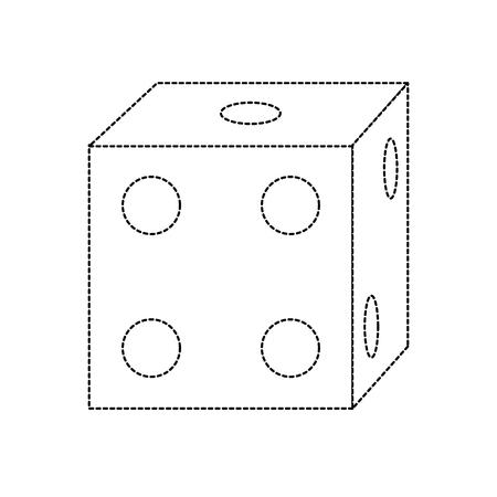 dice game icon image vector illustration design