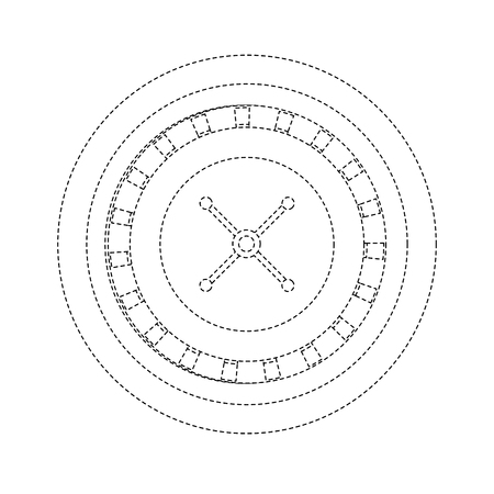 roulette casino related icons image vector illustration design  イラスト・ベクター素材
