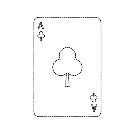 poker casino ace club card playing icon vector illustration  イラスト・ベクター素材