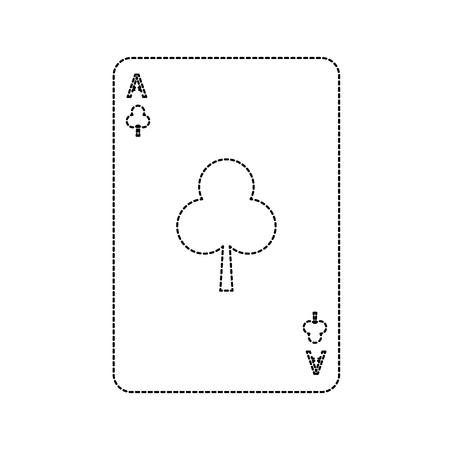 poker casino ace club card playing icon vector illustration Illustration