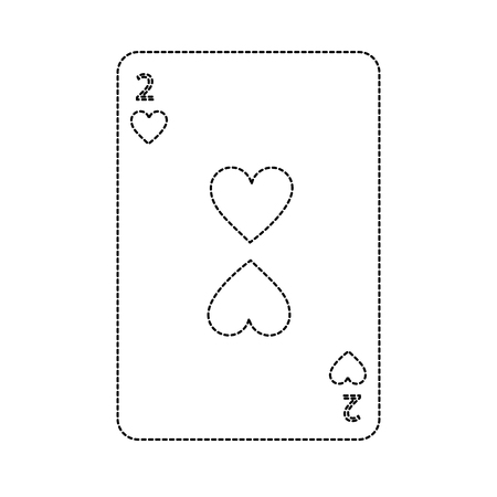two of hearts french playing cards related icon image vector illustration design