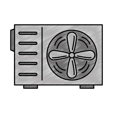 Airconditioner geïsoleerd pictogram vector illustratie ontwerp Stockfoto - 90190314