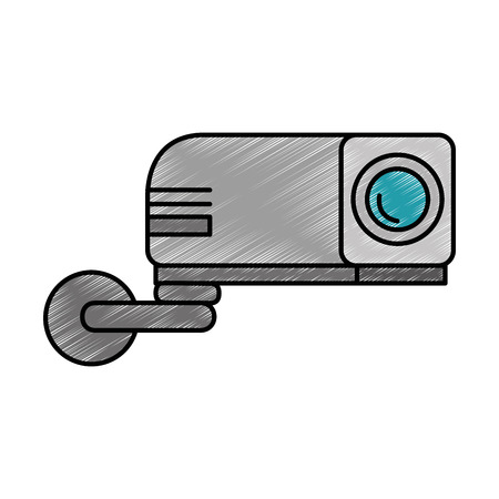 beam video isolated icon vector illustration design