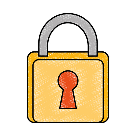 safe padlock isolated icon vector illustration design Stock Vector - 90190414