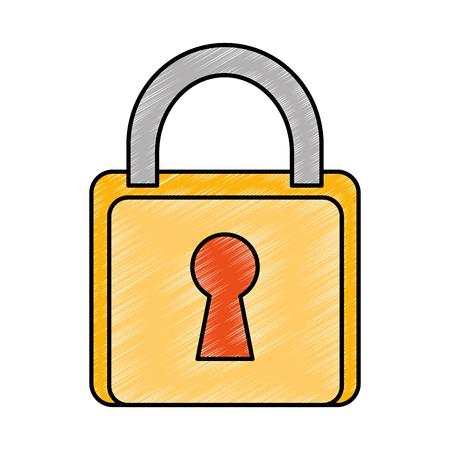 safe padlock isolated icon vector illustration design Banco de Imagens - 90190414