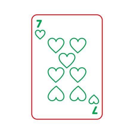 Casino jouant coeur coeur jeu de cartes icône illustration vectorielle Banque d'images - 90180120