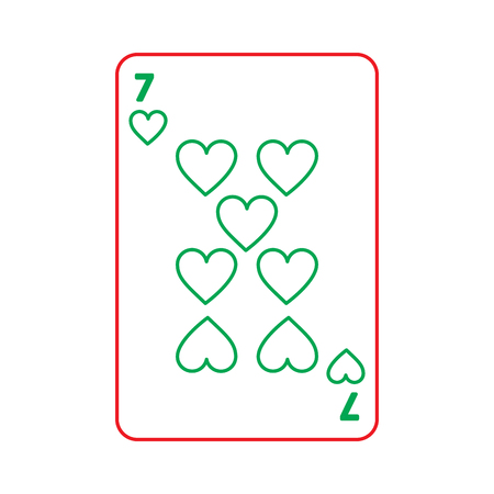 poker playing heart card casino gambling icon vector illustration