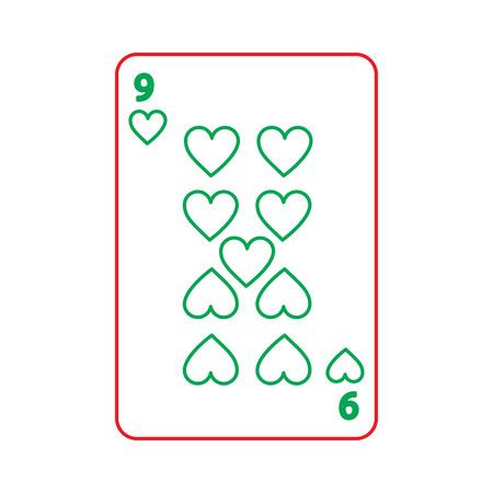 ポーカー心カード カジノ アイコン ベクトル図  イラスト・ベクター素材