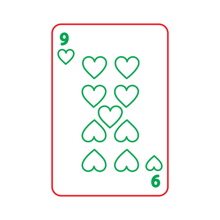 카드를 재생하는 포커 카지노 도박 아이콘 벡터 일러스트 레이 션