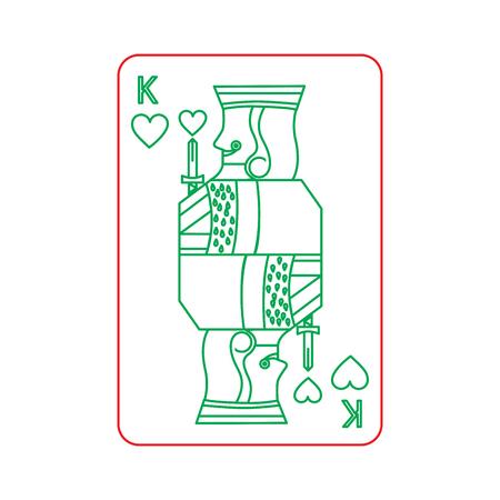 Poker König der Herz Spielkarte Vektor-Illustration Standard-Bild - 90180126