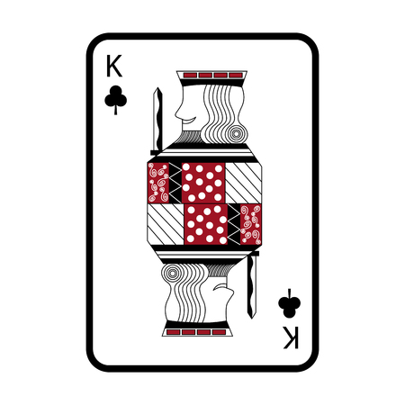 poker king of club playing card vector illustration 向量圖像