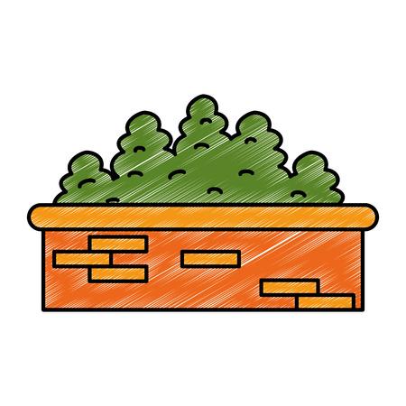 garden shrub construction icon vector illustration design 向量圖像