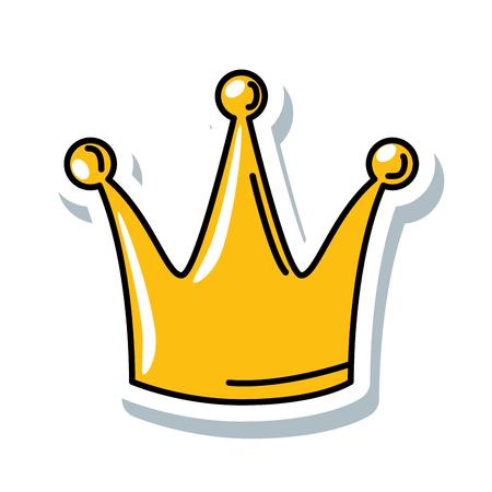 queen crown isolated icon vector illustration design Banco de Imagens - 90190541