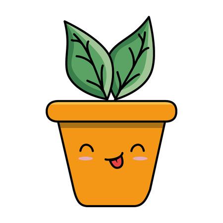 home plant character vector illustration design Ilustrace