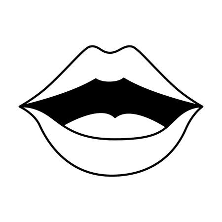 pop art lips icon vector illustration design