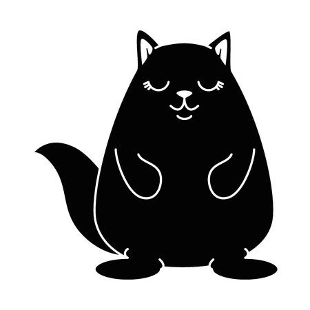 cute hamster character vector illustration design