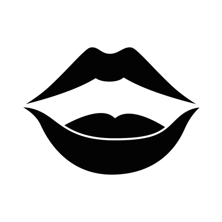 pop art lips icon vector illustration design