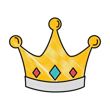 queen crown isolated icon vector illustration design Imagens - 90186541