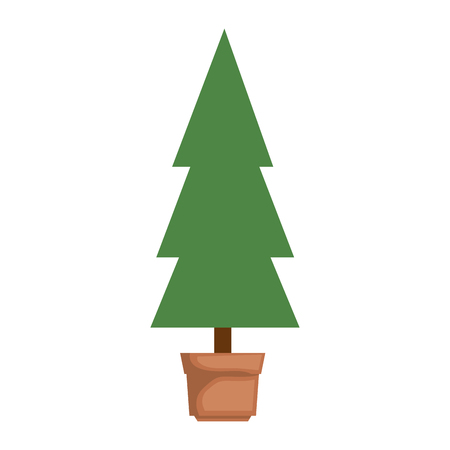 pine tree isolated icon vector illustration design Stock Vector - 90187658