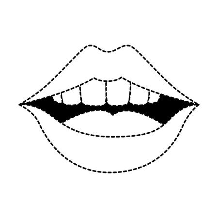 Pop art lèvres icône vecteur illustration design Banque d'images - 90191548