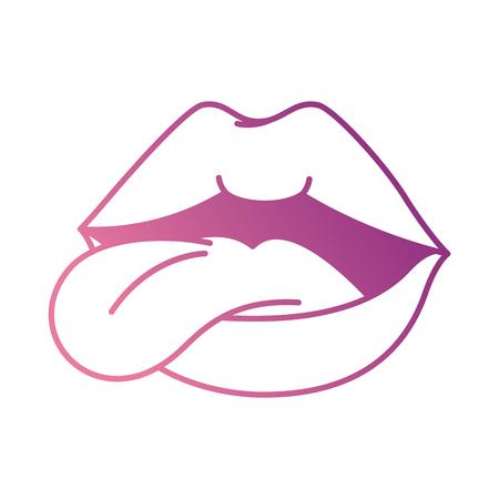 Pop art lèvres avec langue conception illustration vectorielle Banque d'images - 90190324
