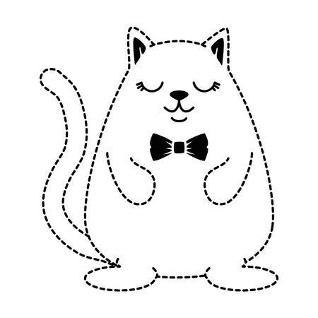 cute hamster with bow tie character vector illustration design Illustration