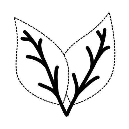 分離された植物アイコン ベクトル イラスト デザインを葉します。