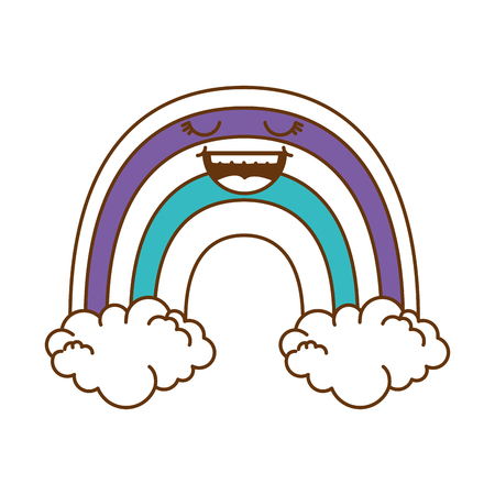 cute rainbow character vector illustration design Illustration