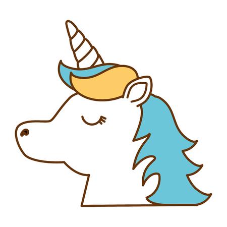 Disegno di illustrazione vettoriale di carattere carino unicorno fantasia Archivio Fotografico - 90190262
