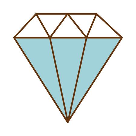 ダイヤモンド エレガントな分離アイコン ベクトル イラスト デザイン