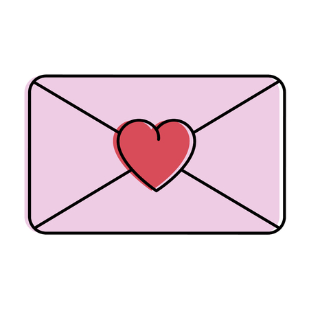 love envelope isolated icon vector illustration design  イラスト・ベクター素材