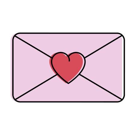 love envelope isolated icon vector illustration design Иллюстрация
