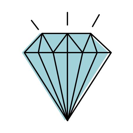 다이아몬드 우아한 격리 된 아이콘 벡터 일러스트 레이 션 디자인