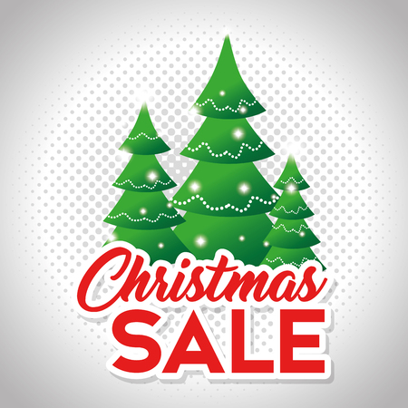 christmas sale banner background vector illustration graphic design Stock Vector - 90229091