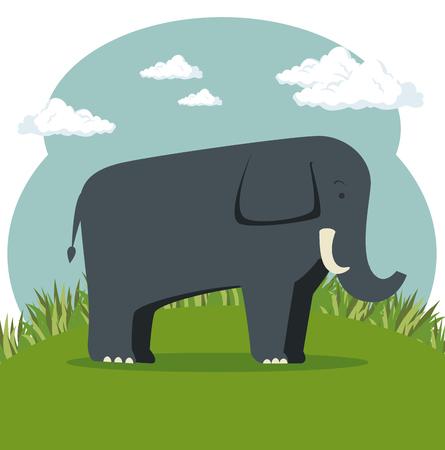 野生動物漫画ベクトル イラスト グラフィック デザイン